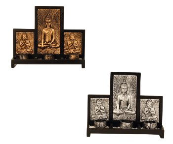 Buddha Set für 3 Teelichter h=22cm