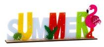 """Felt """"Summer"""" on wooden base h=14cm"""