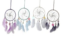 Dreamcatcher with glass pearls and nacre