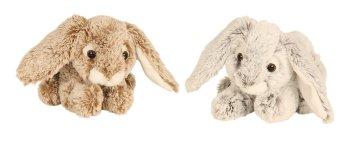 Plüsch-Hase liegend l=23cm sort.