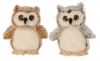 Plush-Owl standing h=17cm assort.