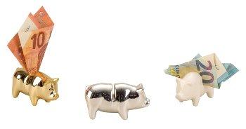 Geldschwein in Display h=4,5cm l=7,5cm