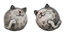 Katzen kugelig h=7,5cm b=7,5cm sort.