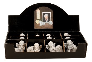 Gedenksteine mit Engeln in Display
