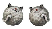 Cats in ball shape h=14cm w=14cm asst.