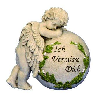 """Angel on ball """"Ich vermisse Dich"""""""