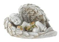 Engel liegend in Flügel b=19cm
