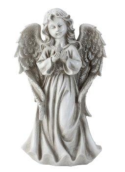 Engel stehend mit Vogel in der Hand