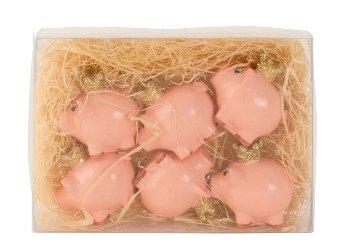 Schweinchen mit Krone h=3,5cm l=4cm