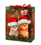 """Weihnachtstüte """"Katzen mit"""