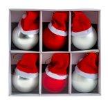 Weihnachtskugel Glas m. Mütze zum Hängen