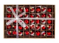 Weihnachtskugeln Glas Nikolaus + Tanne
