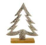 Tannenbaum auf Holzsockel h=20cm b=17cm