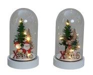 """Weihnachtsdeko """"XMAS"""" in Glas mit LED"""
