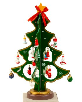 X-mas Tree wooden only green color