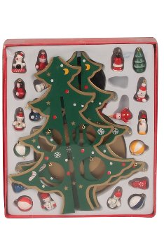 X-mas Tree wooden music box only green