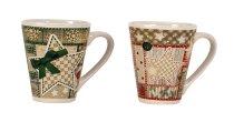 X-mas mug h=10cm d=8,8cm assort.