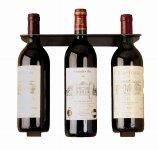 Metal wine-bottleholder anthracite for 3