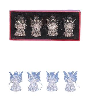 Glass Angel in box h=6cm assort.