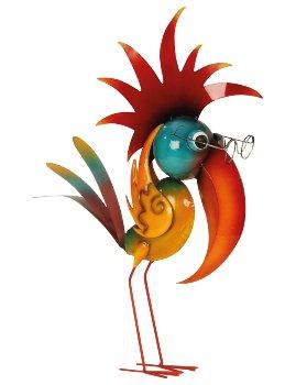 Metall bird standing h=57cm