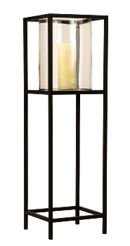 Windlicht aus Glas/Metall groß h=80cm