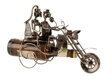 Bier-Flaschenhalter Paar auf Motorrad