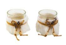 Glasses for T-light with felt decoration