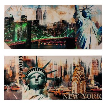 Picture print 'New York' 100x45x3cm
