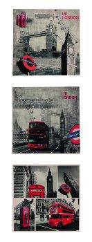 "Picture print ""London"" 40x40x1,8cm"