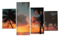 Bilddrucke 'Strand' 4er-Set