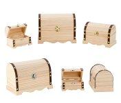 wooden chest h=7-14,5cm w=10,7-20cm,