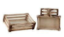 Holzboxen 3er-Set h=10-11cm b=23-36cm