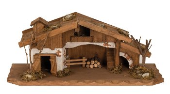 Wooden house h=13,5cm b=33cm
