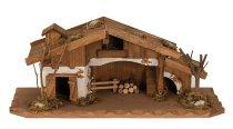 Haus aus Holz h=13,5cm b=33cm