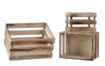 Holzboxen 3er-Set h=16-18,5cm b=22-35cm