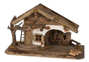 Haus aus Holz mit LED-Licht h=22cm