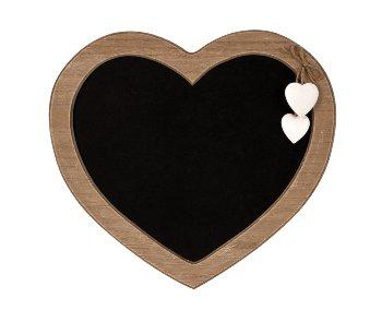 Holz-Tafel in Herzform 30x29,5cm