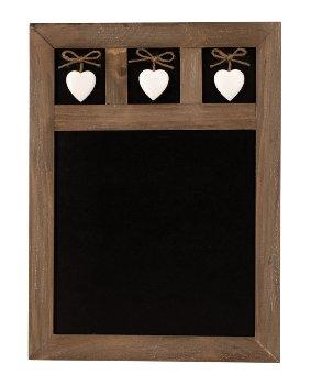 Holz-Tafel mit 3 Herzen 30x40cm