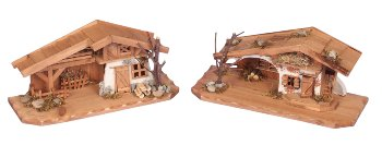 Wooden house h=13-14cm, b=30cm assort.