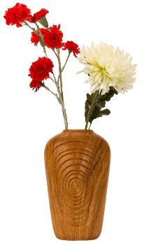 Vase Porzellan Holzoptik h=31cm b=18cm