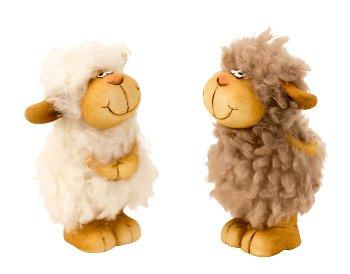 Schaf mit Wuschelfell stehend h=10-11cm