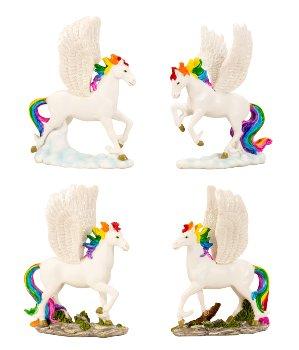 Pegasus stehend h=11,5cm b=9cm sort.