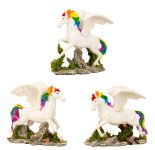 Pegasus stehend h=12,7cm b=6,5cm sort.