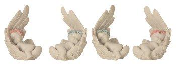 Baby angel liying in wings h=8,5cm