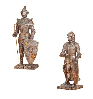 Knight standing with sword h=23+24cm