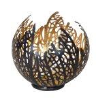 Metall-Schale schwarz/gold h=12cm