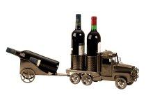 """Wein-Flaschenhalter """"Truck mit Anhänger"""""""