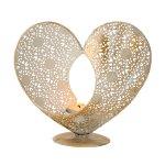Metall-Herz für Teelicht h=19,5cm