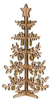 Baum aus Holz zum Stecken mit golden
