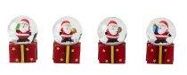 Snowglobe Santa giftbox base h=7cm d=4cm